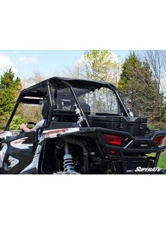 SuperATV RZR 1000 Full Rear Windshield - Clear Scratch Resistant