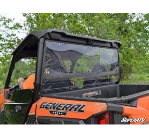 SuperATV General Full Rear Windshield - Clear Scratch Resistant
