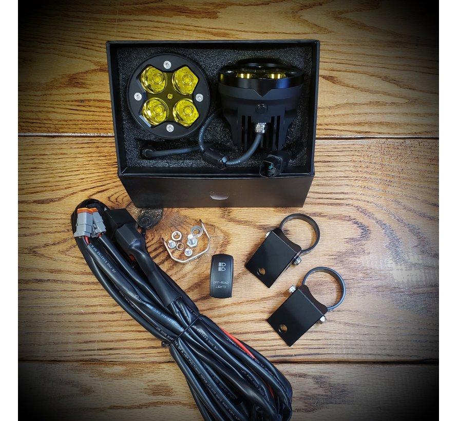 White Lightning Offroad  - Yellow LED Pod Lights (Full Kit)