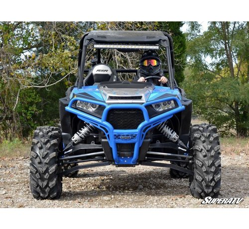 SuperATV - Polaris RZR 900/1000 Front Brush Guard - Wrinkle Black