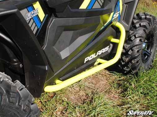 SuperATV SATV - Polaris RZR 900 / 1000 Heavy Duty Nerf Bars - Wrinkle Black