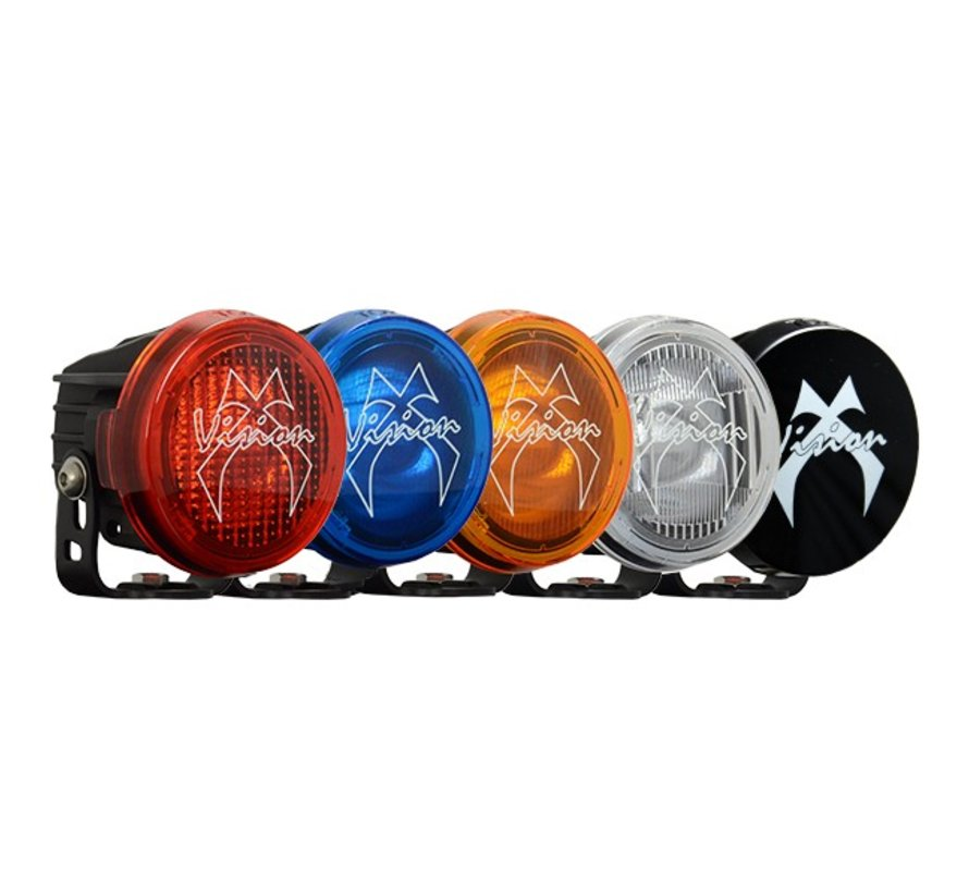 "3.7"" Round Optimus Light Cover - Red Wide Flood"