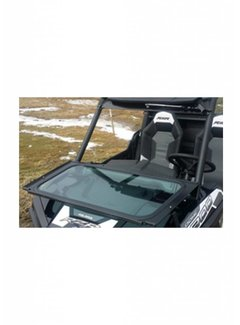 RyFab Industries RZR Front Solid Glass Windshield w/ Wiper
