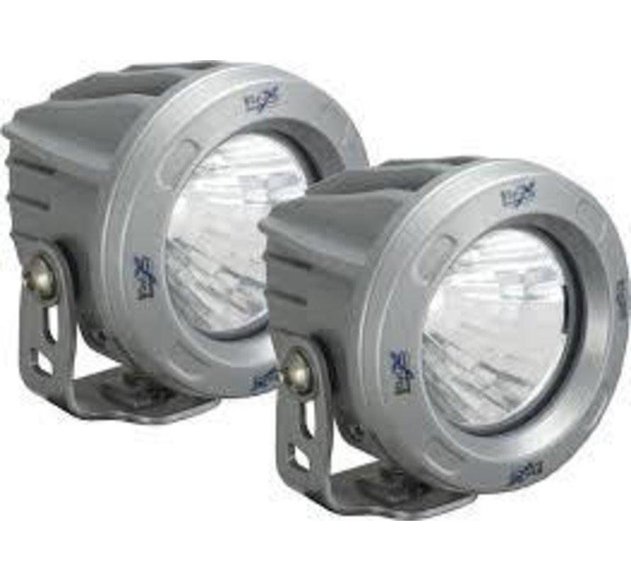 """3.7"""" Round Optimus 2 Light Kit - Silver"""