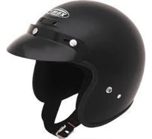 GMAX - GM2 Open Face Black YL-YX