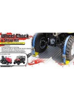 Erickson Manufacturing - 2 X 6' 1500 LB UTV Wheel Chock & Strap Kit