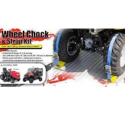 2 X 6' 1500 LB UTV Wheel Chock & Strap Kit