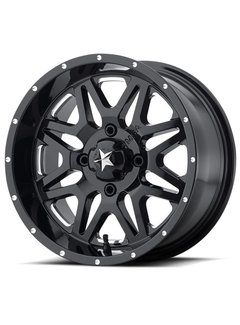 MSA M26 Vibe - Gloss Black ~ Milled (14x7 / +0 / 4+3)