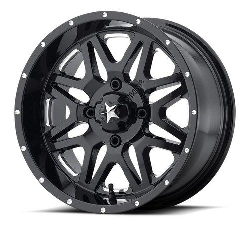 MSA M26 Vibe - Gloss Black ~ Milled (14x7 / +0 / 4+3)