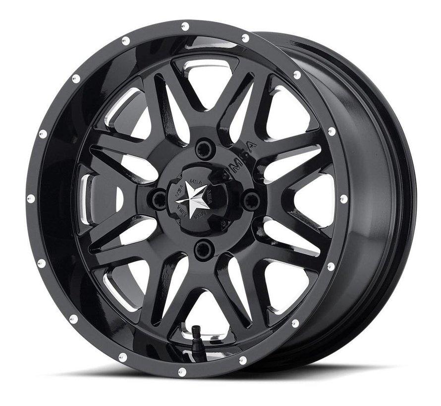 M26 Vibe - Gloss Black ~ Milled (14x7 / +0 / 4+3)