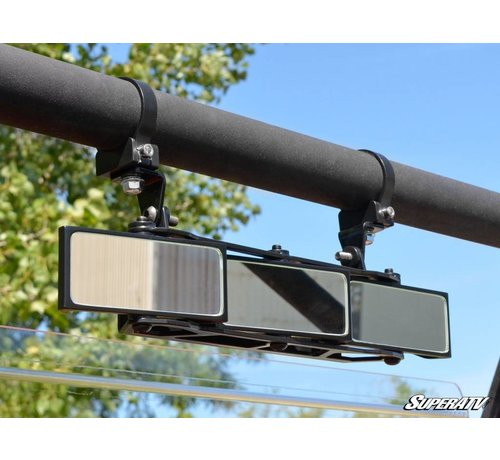 """SuperATV 3 Panel Rear View Mirror with 1.75"""" Clamps"""