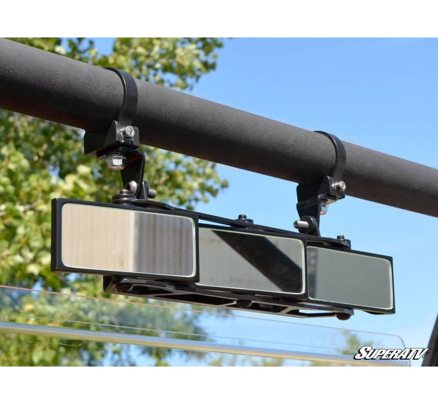 """3 Panel Rear View Mirror with 1.75"""" Clamps"""