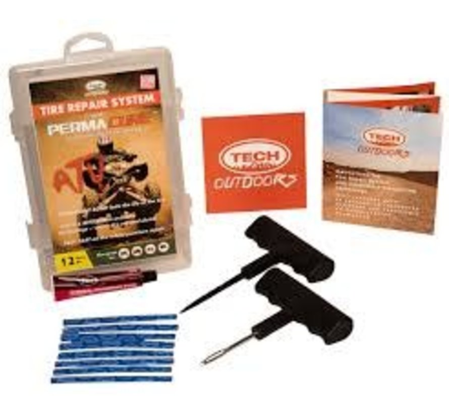 TECH Outdoors Tire Repair Kit with Permacure