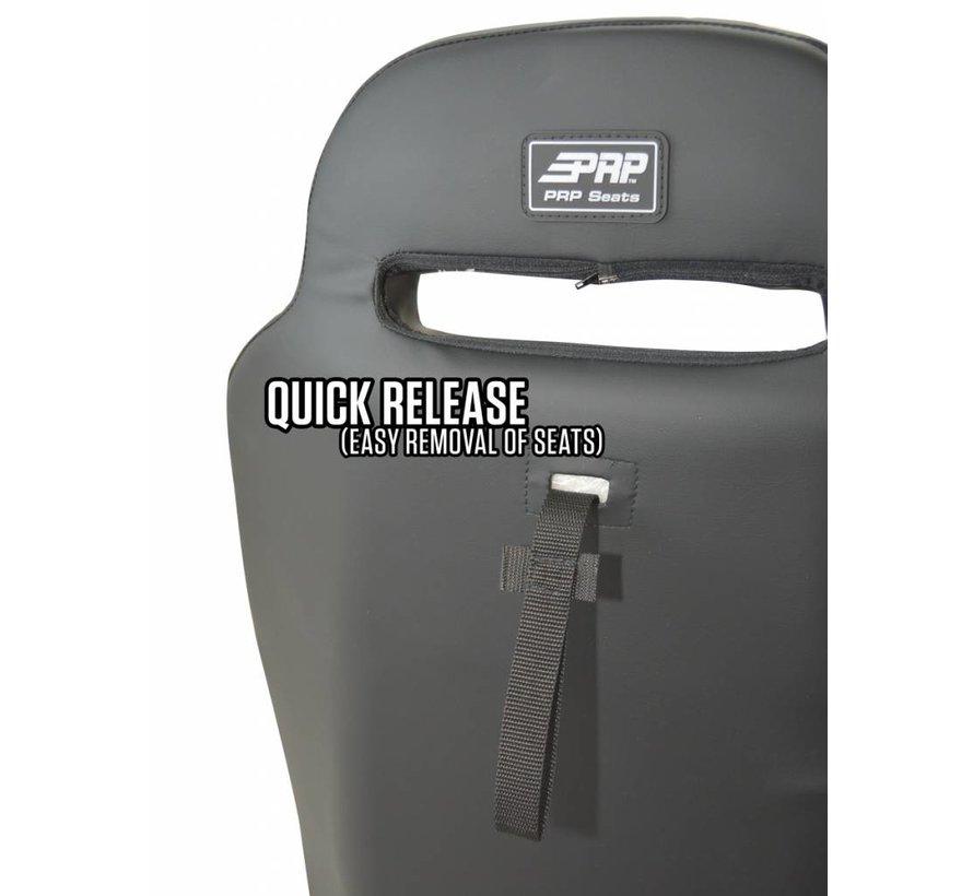 PRP - XC Suspension Seat - Pre-Designed - Black / White