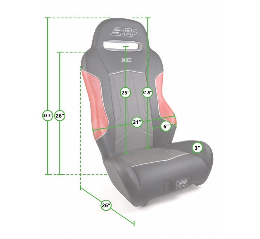PRP - XC Suspension Seat - Pre-Designed - Orange