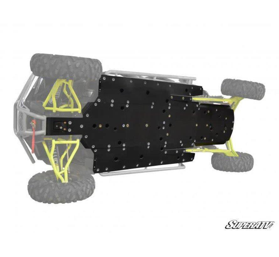 - Polaris RZR 4 1000/ 4 Turbo Full Skid Plate