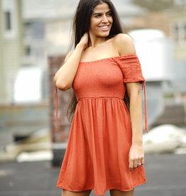 Papercrane Orange Smocking Dress