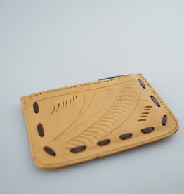 Leaders in Leather Tooled Zip Coin Case