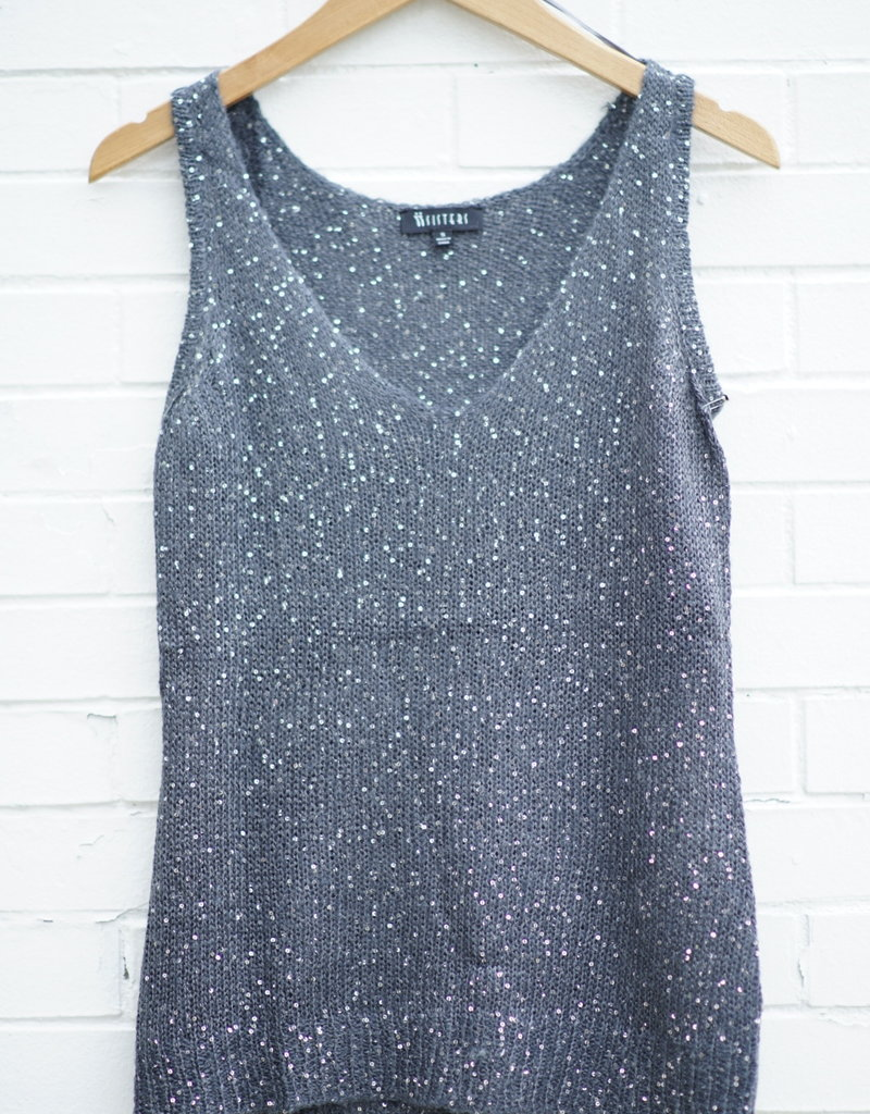 Sisters Sequin Tank Sweater
