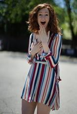 The JetSet Diaries Bold Stripe Wrap Dress