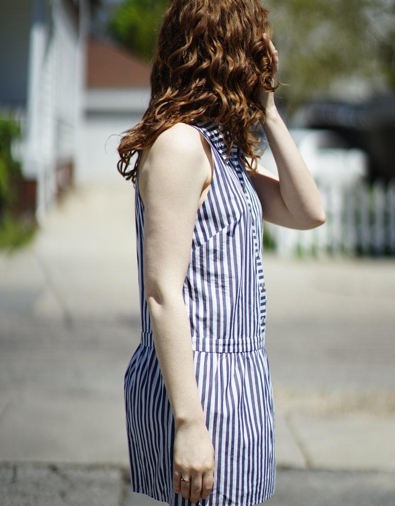 The JetSet Diaries Striped Drop Waist Dress