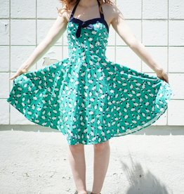 ixia Halter Cat Dress Green