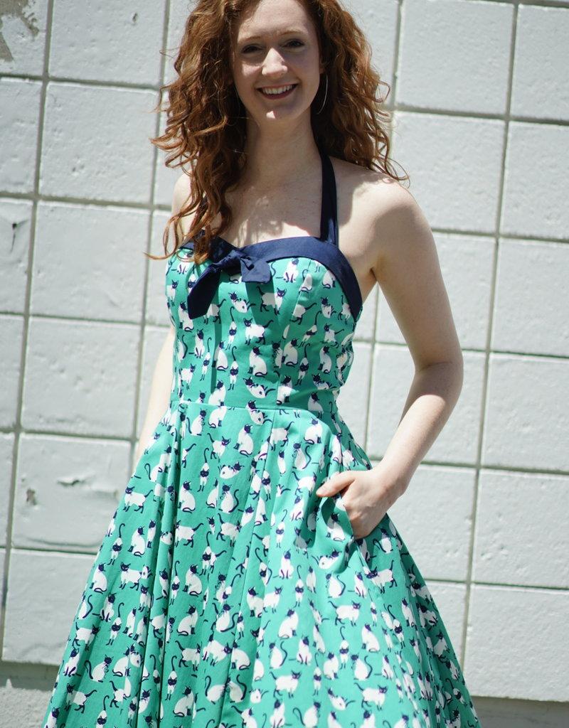 ixia Halter Cat Dress Green