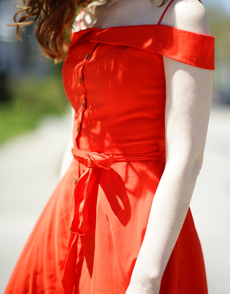 The JetSet Diaries Red Hi-Lo Dress