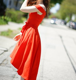 The JetSet Diaries Red Hi-Lo Dress