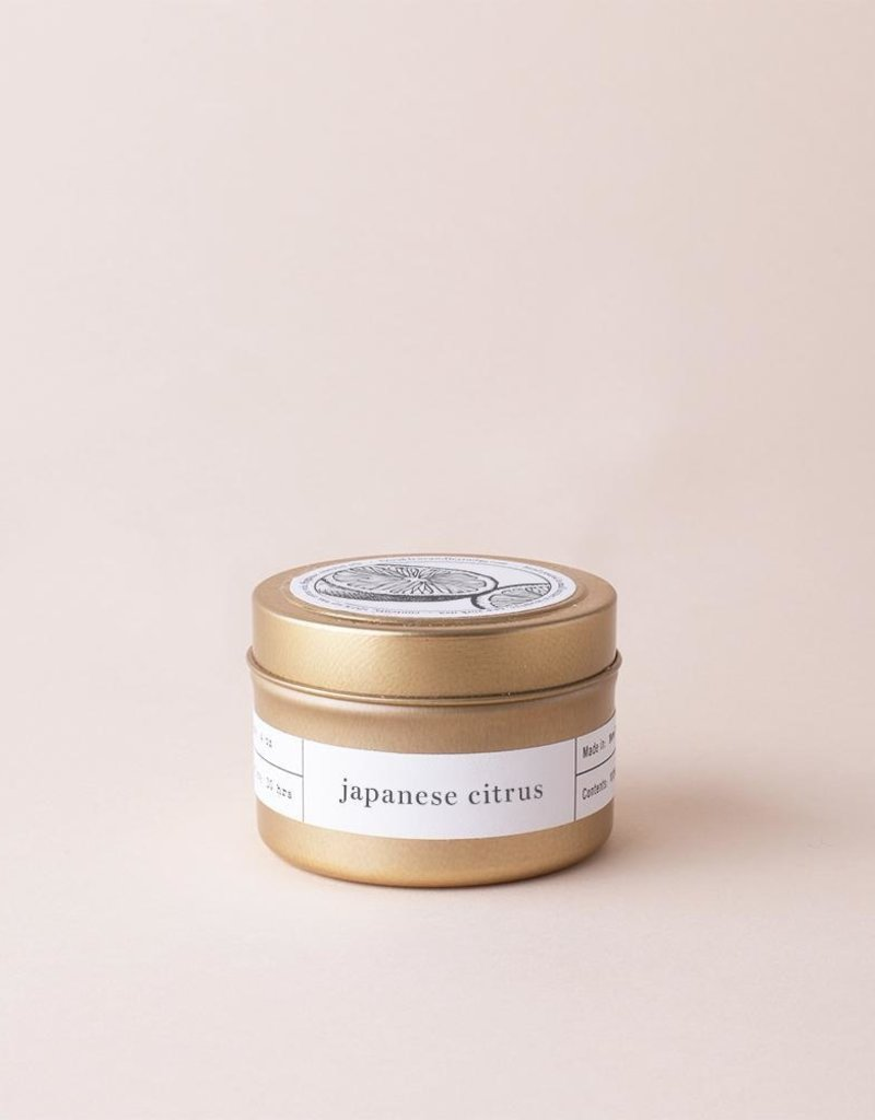 Brooklyn Candle Studio Japanese Citrus Gold Travel Candle