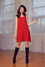 Lost + Wander Red Boho Beaded Dress