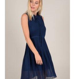 Molly Bracken Navy Pleated Dress