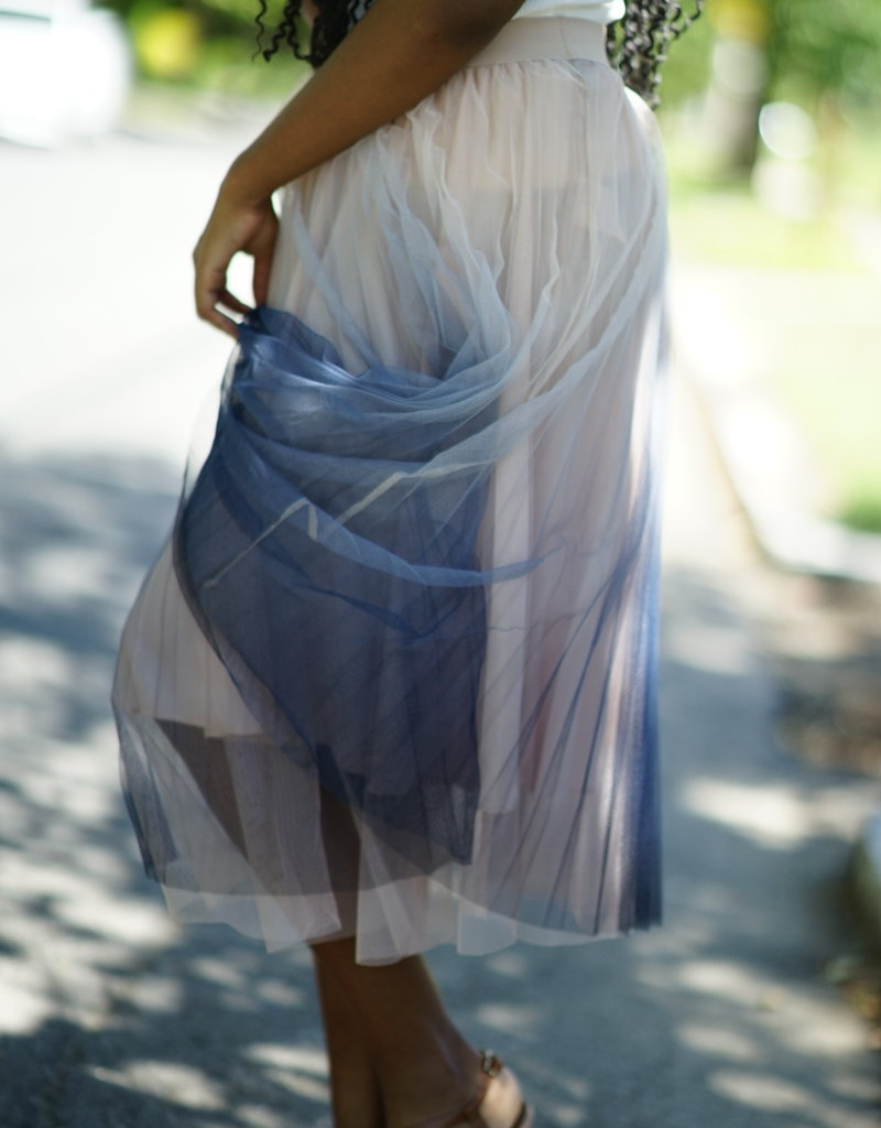Molly Bracken Tie & Dye Midi Skirt