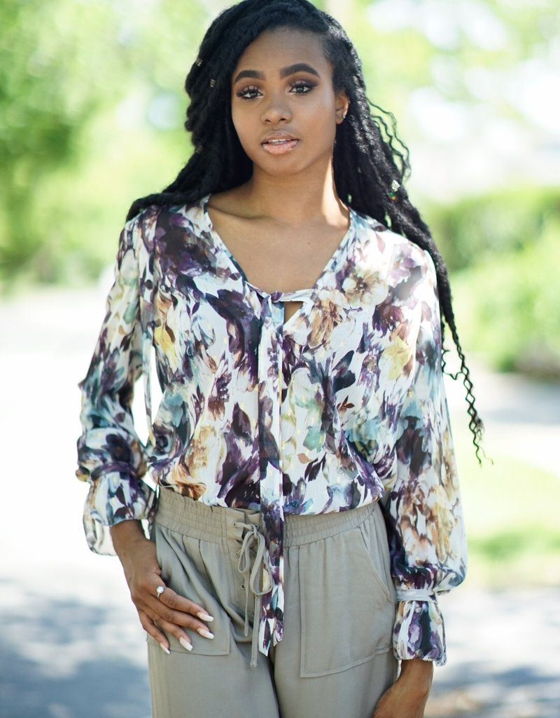 The JetSet Diaries Floral Chiffon Top