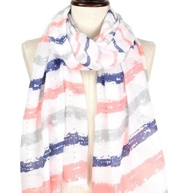 LIB Brush Stroke Pattern Scarf