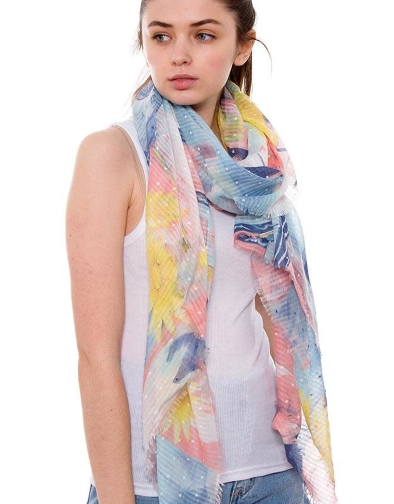 J Fashion Accessories Plush Speckled Print Oblong Scarf
