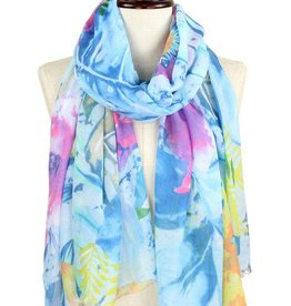 LIB Soft Tropical Printed Oblong Scarf