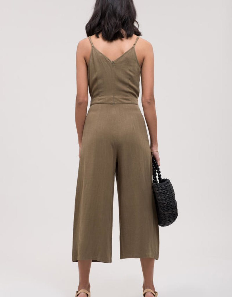 Blu Pepper Olive Jumpsuit