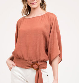 Blu Pepper Buckle Front Blouse