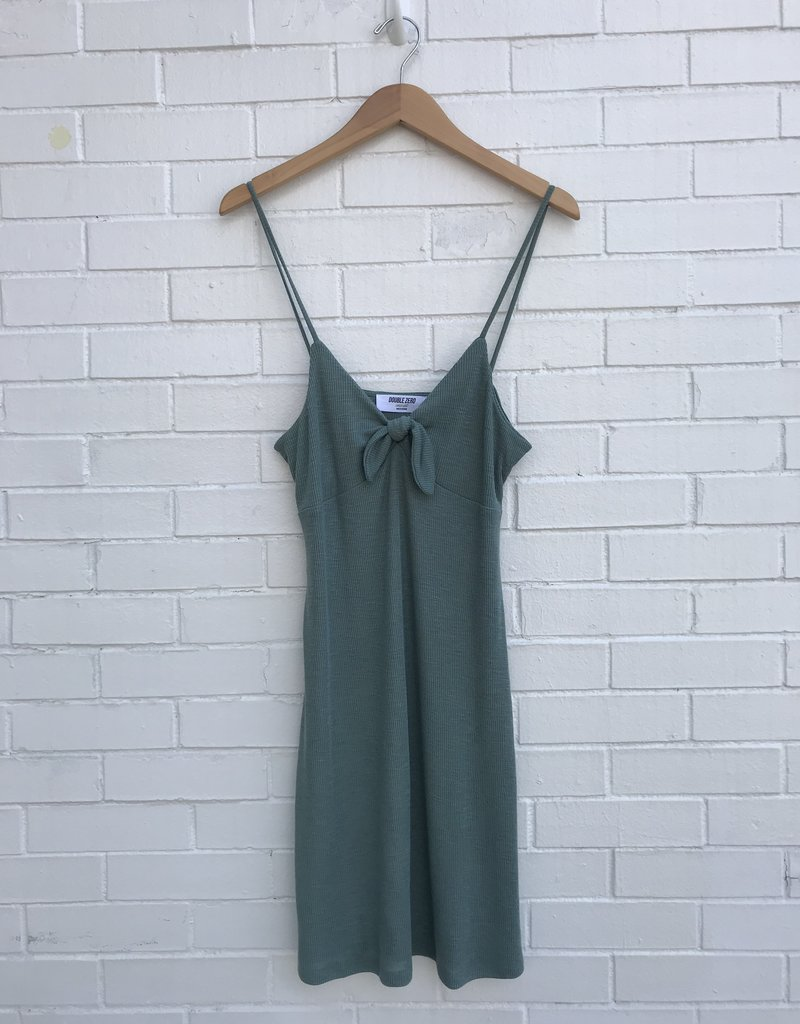Double Zero Knot Front Sleeveless Mini