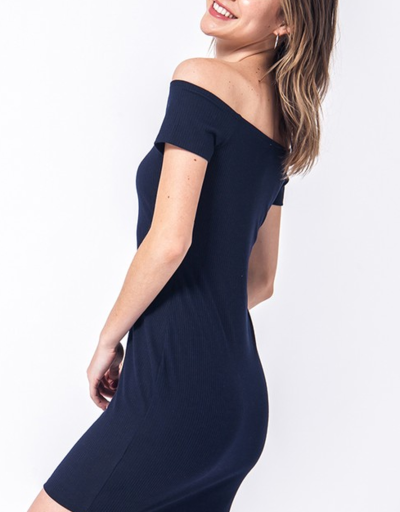 Double Zero Off Shoulder Bodycon mini