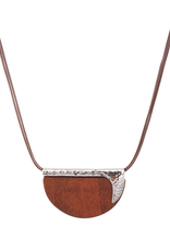 Blue Suede Jewels Organic Wood & Metal Necklace