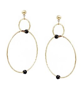 Blue Suede Jewels Rhinestone Hoop Drop Earrings