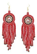 Blue Suede Jewels Seed Bead Disc Earrings