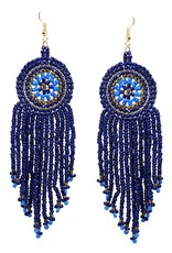 Blue Suede Jewels Seed Bead Disc Earrings
