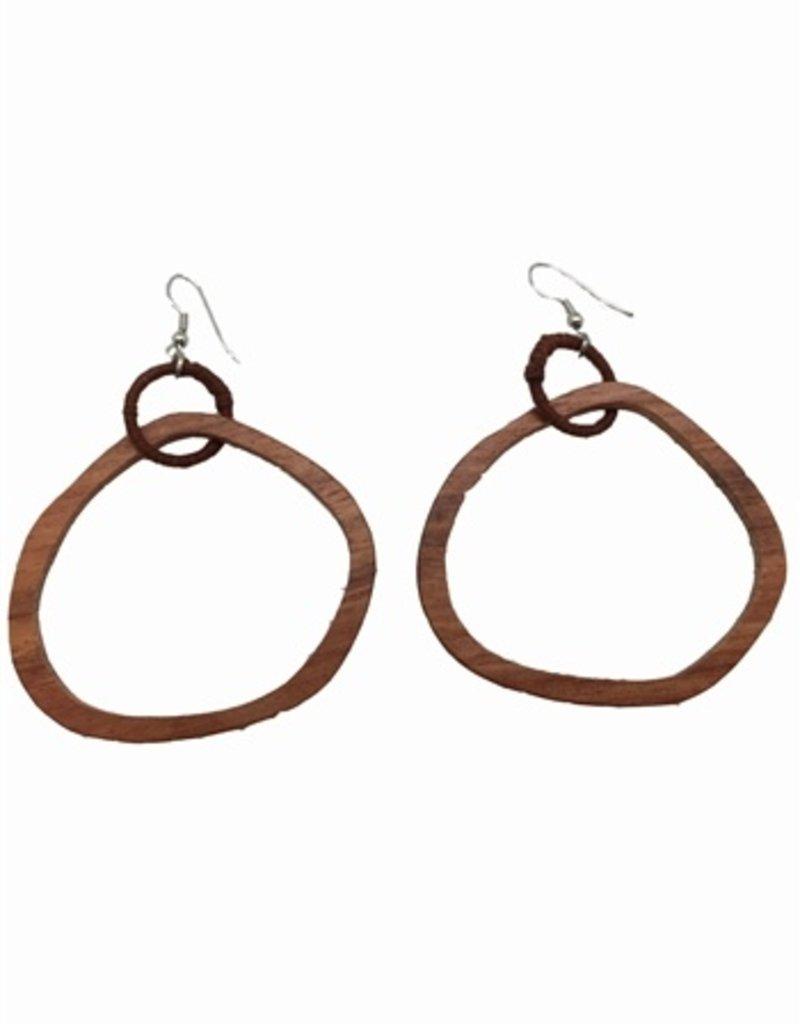 Sweet Lola Natural Wooden Hoop Earrings