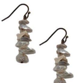 Sweet Lola Stacked Freshwater Pearl Earrings