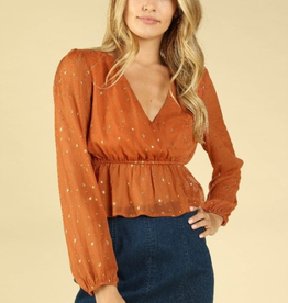 Wild Honey Celestial Wrap Top