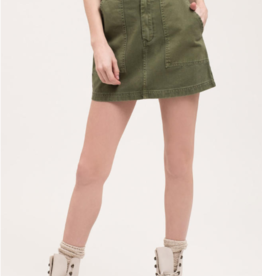 Blu Pepper Canvas Mini Skirt w/ Pockets