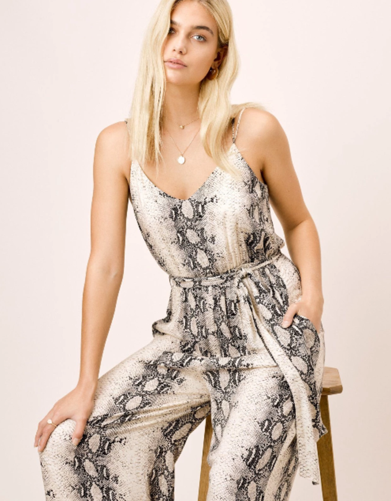 Love Stitch Snake Print Jumpsuit